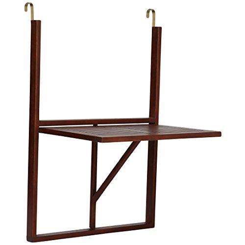 Ultranatura Tavolino da Balcone, Tavolino Sospeso in Legno, Pieghevole, Serie Canberra