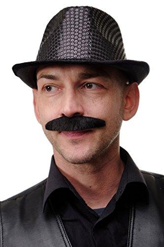 DRESS ME UP - Karneval Fasching Halloween falscher Bart schwarz breit Schnauzbart Schnauzer MM-81