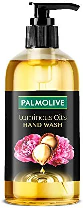 Palmolive Luminous Oils Invigorating Liquid Hand Wash, Dispenser Bottle with Macadamia Oil and Peony Extracts,
