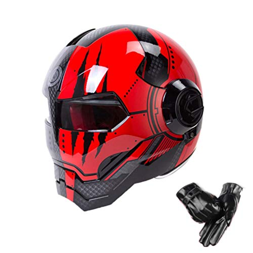 Retro casco moto integrale anti nebbia vento trasparente lente moto Caschi Cruiser chopper moto motocross racing tappi di sicurezza
