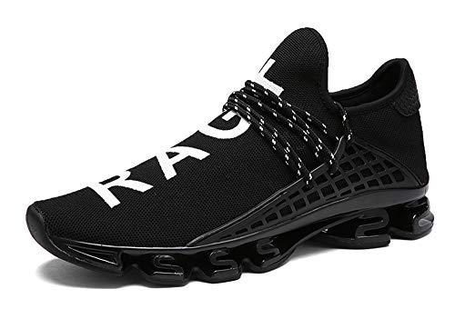 XIANV Neue Freizeitschuhe Für Männer Mode Licht Atmungsaktive Billige Lace-up Männliche Schuhe Super Licht Sneaker (43, schwarz)