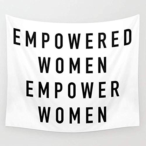 BAOQIN Tapisserie Empowered Women Wall Tapestry Hanging Tapestries Wall Art for Living Room Bedroom Dorm Decor 80 X 60 Inch (Wandbehang-quilt-rack)