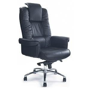 Eliza Tinsley 1611KTAG/LBK Luxuriöser Leder-doppelseitig Flügeltürer Executive Sessel, mit Chrom Boden