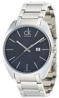 Calvin Klein K2F21161 - Reloj analógico de caballero de cuarzo con correa de acero inoxidable plateada de Calvin Klein