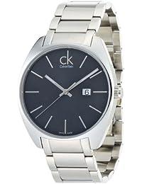 Calvin Klein K2F21161 - Reloj analógico de caballero de cuarzo con correa de acero inoxidable plateada