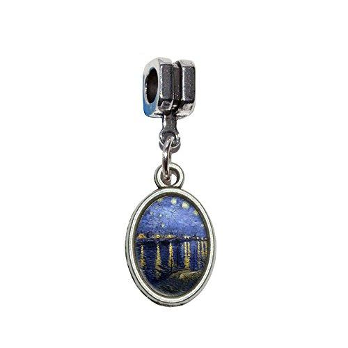 e Rhone–Vincent van Gogh italienischen europäischen Euro-Stil Armband Charm Bead–für Pandora, Biagi, Troll,, Chamilla,, andere (Starry Night Kostüm)