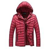 LoveLeiter Herren Winterjacke Parka Parkajacke Jacke Kapuzenjacke Wärmejacke Wintermantel Coat Herbst Winter Jacke Mantel Outwear dünner Langer Trench Zipper Caps Coat