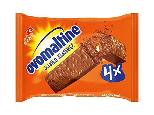 Ovomaltine Schoko Klassiker 4er Pack (4 x 20 g) / Schokoladen Riegel