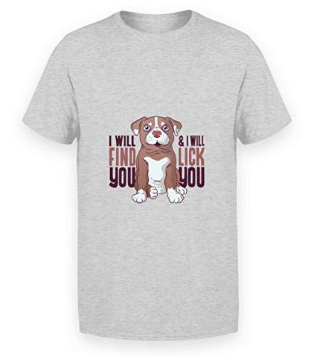 Hunde WELPEN T-Shirt Hund Dog Geschenk - Chemise Homme Basique -3XL-gris bruyère