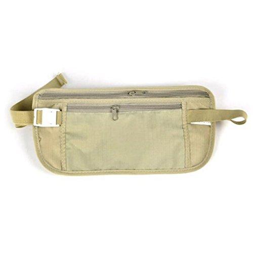 Minzhi Unisex Taille Bum Bumbag Pack Tasche Pouch Nylon Reisen Sport -