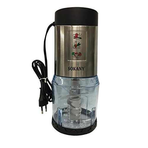 Preisvergleich Produktbild SKY-200 Multifunktionale Elektrische Mixer Fleischwolf Entsafter Haushalts Mixer (Farbe: Schwarz & Silber)