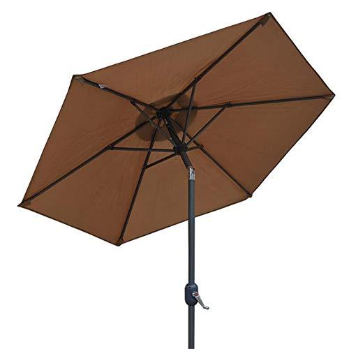 ZHUSAN Sonnenschirm, Garten-Balkon-Sonnenschirm im Freien 2.5m (Farbe : Brown)