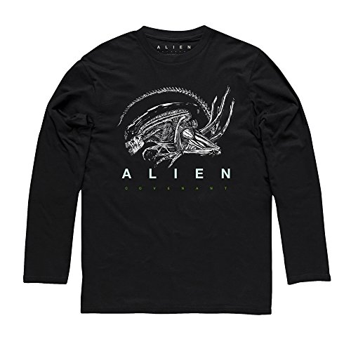 Official Alien: Covenant Xenomorph Warrior Upper Torso Langarmshirt, Herren Schwarz