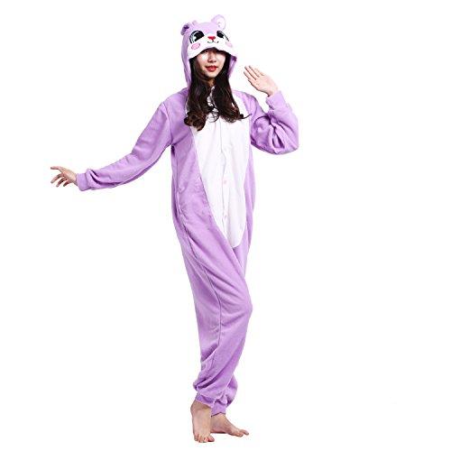 PALMFOX Einhorn Kostüm Tier Cosplay Pyjamas Onesie Kapuzenpullover Erwachsene Karikatur Partei Halloween Nachtwäsche Männer Frauen Unisex ()