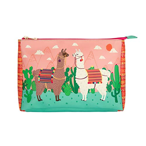 Lima Llama Pouch Zip Up Make Up Bag Case Wash Purse Cactus Cute Girly
