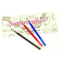 SupercraftsTM High Temperature Heat Erasable Fabric Marker Set - 4 Pens Included