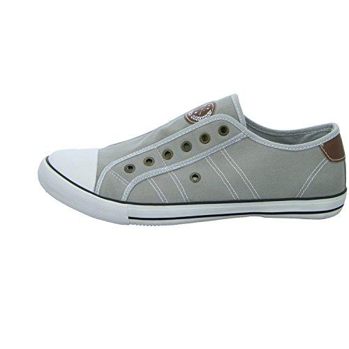 Sneakers 831103/221 Herren Leinen Slipper/Kletthalbschuh Grau (Grau)