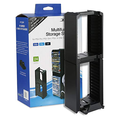 Moorecastle Multifunktionaler Ständer für PS4 P4 / Slim/Pro