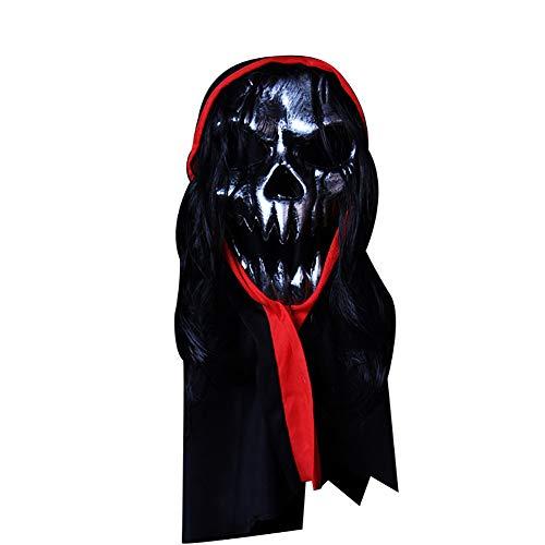 Benutzerdefinierte Requisiten Kostüm - Yeshai3369 Horrible Bloody Monster Dämon PVC Maske Cosplay Halloween Clown Maske Kostüme Party Kopfbedeckungen 2#