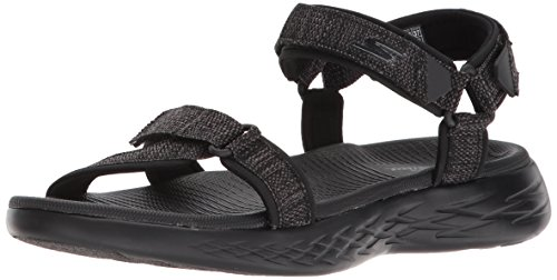 Skechers Damen Sandalen ON The GO 600 Radiant Schwarz, Schuhgröße:EUR 38