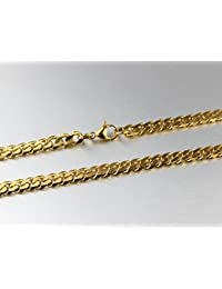 AnaZoz Joyería de Moda 18K Oro Chunky Collar Acero Inoxidable Cadena Larga