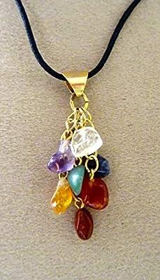 pendentif 7 chakras pierres semi précieuses