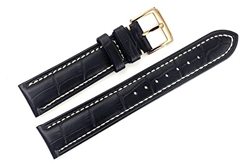 22mm-black-luxury-italian-leather-replacement-watch-straps-bands-handmade-white-stitching-for-top-gr