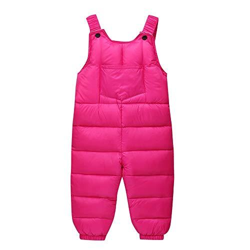 Elecenty tute da neve per bambino neonati ragazzi inverno caldo spesso pantaloni con bretelle