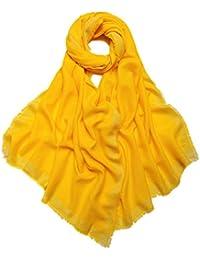 Prettystern - 200/70cm Losanges argenterie tissé 100% laine Taille XL couleur unie châle pashmina - 5 Couleurs