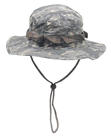 Boonie Hat Chapeau Brousse Jungle US Army Commando Trooper - Coloris AT Digital Camouflage - Taille Médium - Airsoft - Paintball - Chasse - Pêche - Randonnée - Outdoor