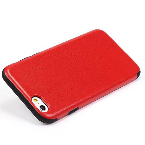 URCOVER Coque de Protection Ultra Mince Apple iPhone 6 6s Plus | Cover Back Case Rigide Élégante en Rose | Housse Arrìere Bumper Antichoc Édition Élégance Rouge