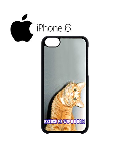 Cat Kitten WTF Meow Swag Mobile Phone Case Back Cover Hülle Weiß Schwarz for iPhone 6 White Weiß