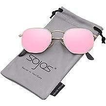 SOJOS Clásico Polígono Espejo Lentes UV Portección Unisex Gafas de Sol SJ1072