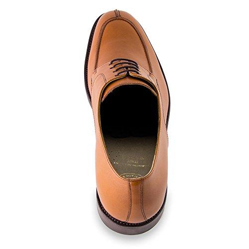 Masaltos Chaussures Réhaussantes Pour Homme avec Semelle Augmentant la Taille JusquÀ 7cm. Fabriquées en Peau. Modèle Bordeaux Marron