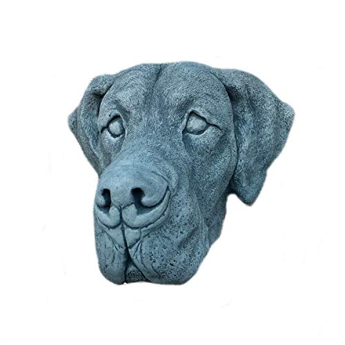 Steinfigur Deutsche Dogge Kopf Hund Bulldogge Gesicht Frostfest Steinguss