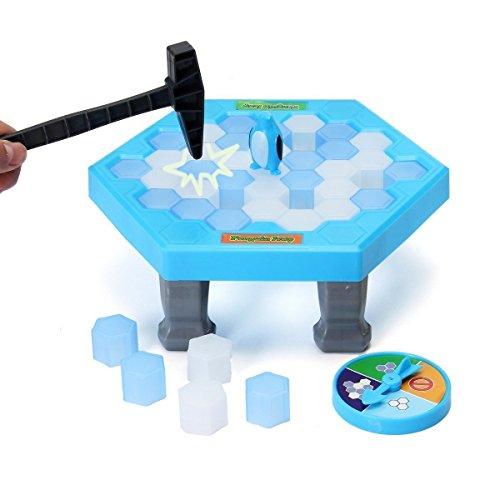 FUNTOK Pingüino Puzzle Juegos de tablero mesa de rompecabezas Cubos de hielo de equilibrio Guardar Pingüino Rompehielos Golpear Interactivo Juegos