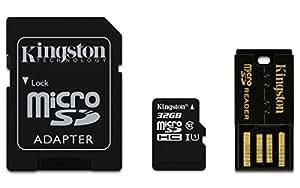 Kingston Mobility Kit micro-SDHC/SDXC 32GB Klasse 10, Karte plus SD und USB-Adapter