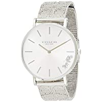 Coach Women's Silver White Dial Stainless Steel Watch - 14503341