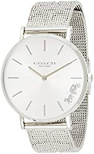 Coach Women's Silver White Dial Stainless Steel Watch - 1450