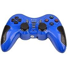 Ckeyin® Gamepad inalámbrico para Sony PlayStation , doble vibración, controlador sin cables PS2 y PS3 y PC