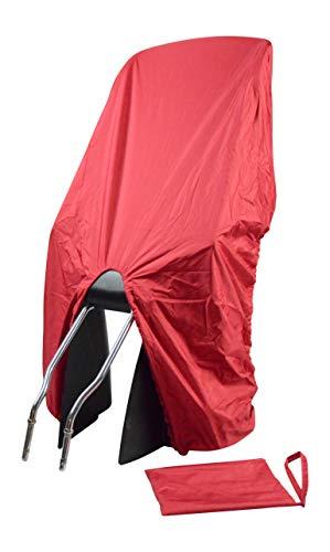 TROCKOLINO Regenschutz für Fahrrad-Kindersitz - rot