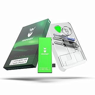 Hagnaven® Li-Polymer Akku für iPhone 5 | Produktionsjahr 2018 | LEISTUNGSSTÄRKSTER Ersatzakku | Premium Batterie inklusive Werkzeug | 1540 mAh Hochwertigste QUALITÄTSZELLEN | Beste AKKULAUFZEIT | OVP