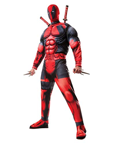 Horror-Shop Marvel Deadpool Kostüm mit Deadpool Maske für Halloween, Fasching & Cosplay XL