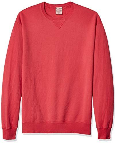 Hanes Herren Men's ComfortWash Garment Dyed Fleece Sweatshirt, Crimson Fall, 3X-Large -