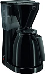 Melitta Easy Therm 1010-06, Filterkaffeemaschine mit Thermkanne, Kompaktes Design, Schwarz
