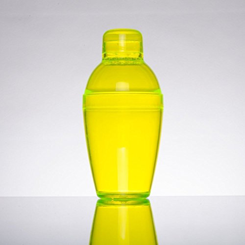 Fineline Settings Quenchers Cocktail Shaker, 7-Ounce, Yellow -