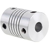cnbtr aluminio D18L25Top Tight Eje del motor acoplador de acoplamiento flexible 6x 8mm