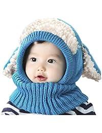9b2ef6fa08b JIAHFR Bonnet Hiver Cagoule Enfant Bébé Bonnet Cache Oreilles Chapeau Laine  Tricoté Cache Cou Ensemble Bonnet