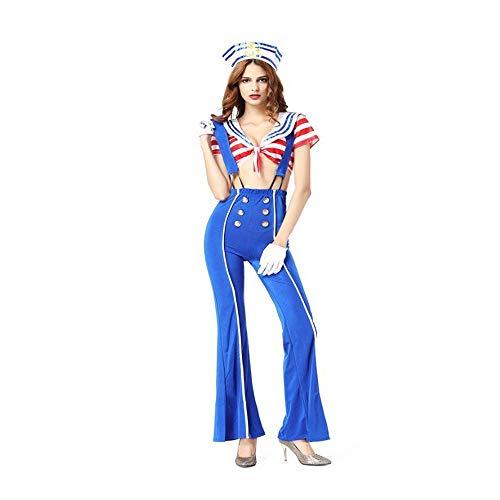 stüme Damen Halloween-Kostüm uniform sexy weiblichen Matrosen Kostüm Anzug Kostüm Cosplay ()