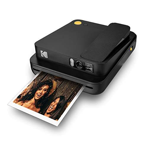 "Oferta de KODAK SMILE Classic Cámara Instantánea Digital c/Bluetooth, 16MP, 35 impresiones p/carga, Incluye papel ZINK 3,5 x 4,25"", marcos con stickers, Negro"